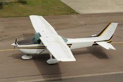 Light Aircraft,. Photograph of a cessna light aircraft on runway Stock Photos