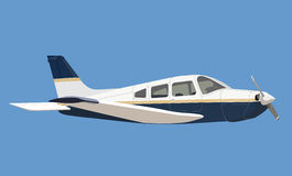 Light aircraft. Illustration of light aircraft in sky royalty free illustration