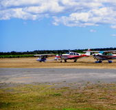 Light Aircraft at Aldinga Royalty Free Stock Images