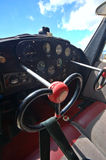 Light aircraft cockpit Stock Photo