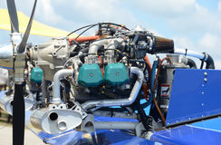 Light aircraft engine Royalty Free Stock Photo