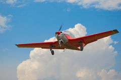Light aircraft in flight Royalty Free Stock Photos