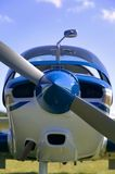 Light aircraft frontal Stock Photography