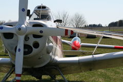 Light aircraft and glider Royalty Free Stock Image