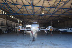 Light Aircrafts Planes Hanger Stock Photography