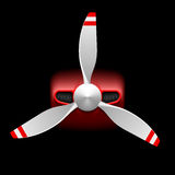 Light aircraft with propeller stock illustration