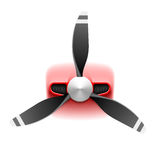Light aircraft with propeller royalty free illustration