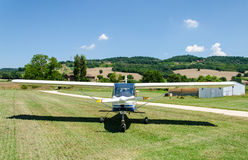 Light aircraft. On the runway Stock Photography