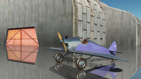 Light aircraft of the 1920s. Computer generated 3D illustration with an American light aircraft of the 1920s Stock Photos