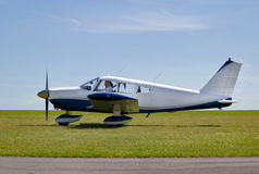 Light aircraft take off Royalty Free Stock Image