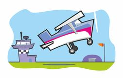 Light Aircraft Taking Off Royalty Free Stock Image