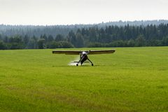 Light aircraft. Training for sports, and agriculture Royalty Free Stock Photography