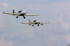 Light aircrafts Stock Photo