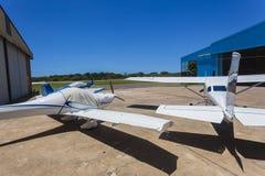 Light Aircraft Planes Hangars Stock Photography