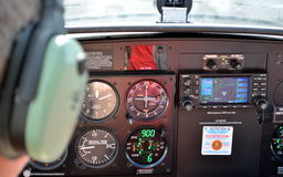 Light airplane cockpit Royalty Free Stock Photography