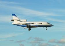 Light airplane descending Royalty Free Stock Photos