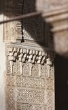 The light in Alhambra. Amazing detail in Alhambra, Spain Royalty Free Stock Photo