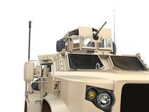Light all terrain tactical military vehicle. Closeup cut shot stock image
