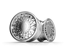 LIght Alloy Old School  Car RIms Royalty Free Stock Images