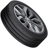 Light alloy wheel Stock Images
