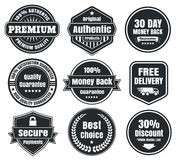 Light And Dark Vintage Ecommerce Badges Stock Photo
