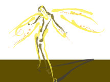 Light angel. Figure of angel, figurative illustration Royalty Free Stock Photo
