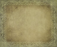 Light antique parchment with frame Stock Image
