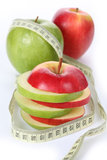Light apples Stock Photos