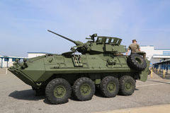 Light Armored Reconnaissance Vehicle LAV-25. NEW YORK - MAY 28, 2017: Light Armored Reconnaissance Vehicle LAV-25 presented during Fleet Week 2017 in New York royalty free stock image