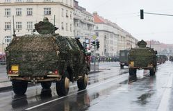 Light Armored Vehicle  on military parade in Prague, Czech Republic. Light Armored Vehicle on military parade in Prague, Czech Republic royalty free stock photography