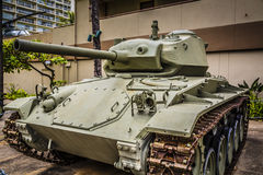 Light Army Tank Royalty Free Stock Photography