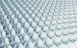 Light Array. Blue Repetitive Array Grid Pattern Stock Photography