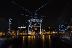 Light art Amsterdam Royalty Free Stock Images