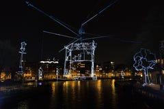 Light art Amsterdam Royalty Free Stock Images