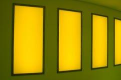 Light art installation in a subway Stock Photos