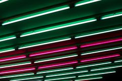 Light art installation in a subway Royalty Free Stock Image