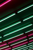Light art installation in a subway Royalty Free Stock Photo