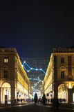 Light and Art in via Roma, Turin Stock Images