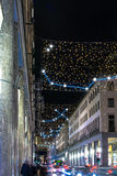 Light and Art in via Roma, Turin Stock Photography