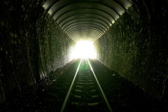 Light At The End Of Tunnel Royalty Free Stock Images