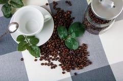 Light atmospheric coffee break theme. Lovely home concept, coffee break Stock Photos