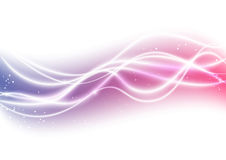 Light background. With abstract wave Stock Photography