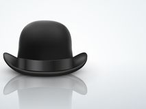 Light Background Black bowler hat Stock Photography