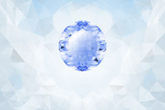 Light background with blue glowing gemstone Stock Images