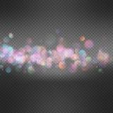 Light background with bokeh. EPS 10. Illustration Abstract holiday light background with bokeh. EPS 10 vector file included stock illustration