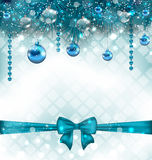 Light background with Christmas traditional elements Royalty Free Stock Photography