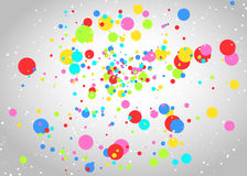 Light background with colorful circles. Vector light gray background with colorful circles Royalty Free Stock Photos