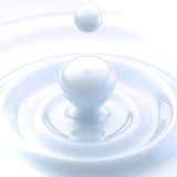 Light background: cream liquid drop Royalty Free Stock Photo