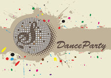 Light background for dance party. Colorful dots.Vector illustration royalty free illustration