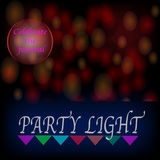 Light background festive celebration - vector concept.  Stock Photos